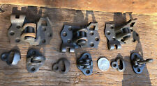 Vintage 3 Pair Iron Shutter Hinges ~ PATENT DATED ~ July 5 1887