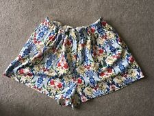 Asos Womens Floral Summer Elasticated Pocket Shorts Size 14
