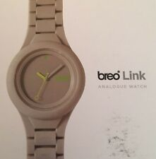 New Breo Link Analogue Watch In Grey Size Medium