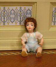 Debra Hammond Toddler Sitting / Lying Boy Doll -  Artisan Dollhouse Miniature
