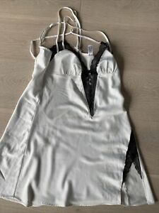 Womens Babydoll Off White Nightdress By Ann Summers Size 10