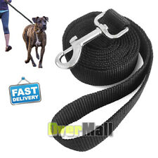 117cm Heavy Duty Dog Leash Long Obedience Dog Lead For Tactical Training Black