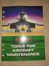 1990 Snap-On Tools For Aircraft Maintenance Catalog (Incl Military) Unused Minty