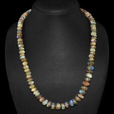 Edelsteinkette Schwarz Labradorit (Labradorite) 50cm Collier Halskette 8mm Perle