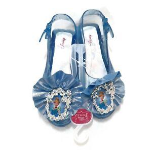 New Disney Cinderella Blue Kids Sparkle Shoes Dress up Costume Slippers Toys