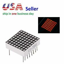 LED Dot 8x8 Red Matrix Display 3mm 16pin Common Anode For Arduino