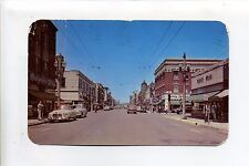 Kenosha WI Wis 1956 Sixth Avenue North street view, stores, cars, people, signs