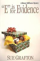 E IS FOR EVIDENCE by Sue Grafton a Hardcover book FREE USA SHIPPING Millhone