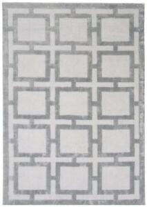 Katherine Carnaby Eaton Modern Easy living Silver 100% Viscose Geometric Rugs...