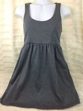 Urban Outfitters Silence + Noise Heather Blue Basic Mini Dress Pockets USA