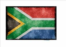 South African aged flag metal sign vintage style  flag sign Grunge Style Flag
