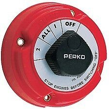 Perko 8501 Dual Battery Selector Switch Fishing Boat RV Semi  1 2 On Off All New