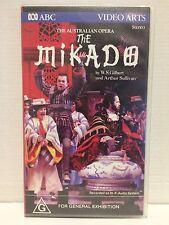 THE MIKADO ~ AUSTRALIAN GILBERT & SULLIVAN OPERA ~ RARE VHS VIDEO