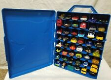 Mattel 1998 HOT WHEELS Blue STORAGE CASE & 48 DIECAST Cars HOLDS Carrying LOT