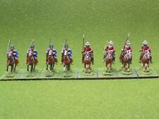 25mm Medieval metal MOUNTED SQUIRES / HANDGUNNERS x8 Minifigs 52071