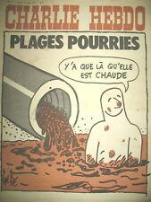 CHARLIE HEBDO N° 91 POLLUTION PLAGES POURRIES PAR GéBé WOLINSKI REISER CABU 1972