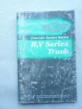 New Listing1989 Chevrolet R,V, Series Truck Owners Manual Original Good Used