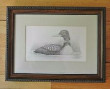 Pencil Drawing of a Duck With Wood Frame