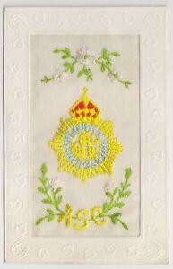 Greetings / Silk postcard - ASC - Army Service Corps (A14)