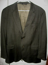 Mens Gray Plaid JOS A BANK Lined Wool Suit 42 Regular