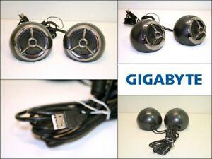 GIGABYTE GP-S5500 Pair Multimedia Speaker System USB Input PC Computer Gaming