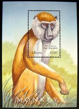 2002 MNH LIBERIA BABOON STAMPS SOUVENIR SHEET NATURE WILD ANIMALS MONKEY APE