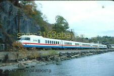 ORIGINAL SLIDE AMTRAK ROHR TURBOLINER PEEKSKILL NY 1979