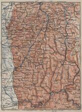 West COPRIGAMBE TOPO-MAP. Heidelberg Chimie Eberbach zwingenberg Karte 1906