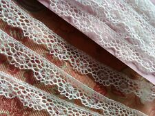 "Dainty 3/8"" tiny  Lace Val Trim  4 yards Teneriffe vintage ruffle"