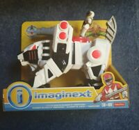 Imaginext power rangers White Ranger And Tigerzord. Sealed On Card DFX59