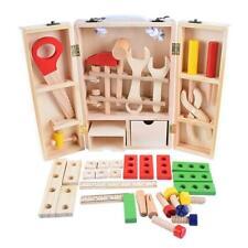 Kid Baby Wood Multifunctional Tool Set Toys DIY Maintenance Box Pretend Toy A#S