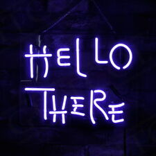 'HELLO THERE' Game Room Shop Pub Neon Light Sign Bistro Beer Bar Man Cave Poster