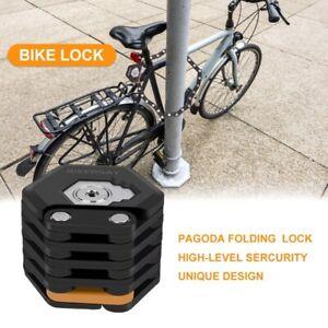 UK Hamburg Bike Lock Chain Folding Alloy Bicycle Locks Anti-Theft Safety