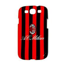 Ac Milan Fc Galaxy S3 Duro teléfono móvil Funda Protectora-Rojo Negro A Rayas