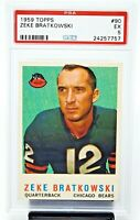 1959 Topps Chicago Bears ZEKE BRATKOWSKI Vintage Football Card PSA 5 EXCELLENT