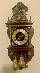 Vtg West Germany Linden Dutch Holland Zaandam Warmink 8 Day Clock Atlas World