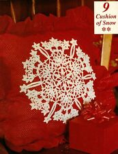 Wintry Cushion of Snow Doily/Crochet Pattern Instructions Only