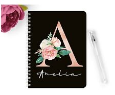 Personalised Notebook Notepad A5 Wedding Planner Party Rose Gold Birthday School