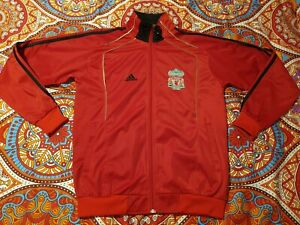 ADIDAS Men's Red Liverpool Jumper with Zip Size M