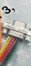 9 Pin Cnt,  D-Sub Micro-D Connector Cable MM-212-009-161-45WC FREE SHIPPING