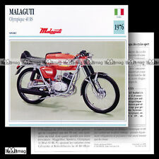 #042.09 MALAGUTI 50 OLYMPIQUE 40 RS 1976 Fiche Moto Motorcycle Card