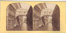 Originale Photo 19ème Stereo Italie Italia Italy Venise Venezia Venice Soupirs