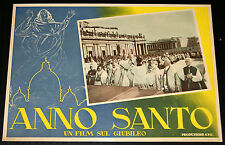 Papa Pio XII° ANNO SANTO Un film sul Giubileo - fotobusta originale 1950 #2