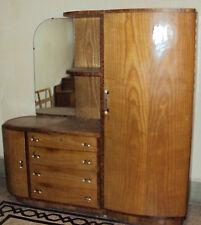 armadio cassettone comò camera da scapolo decò anni 30 in noce