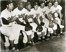 Jackie Robinson 42 Brooklyn Dodgers Boys of Summer Snider Campanella Reese GREAT