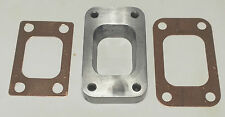 MILD  STEEL T3 TO T25 T28 TURBO MANIFOLD FLANGE ADAPTER + 2 COPPER GASKETS