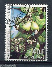 COMORES - 1977, timbre TAXE n° 13, FLEURS, NOIX de CACHOU, oblitéré