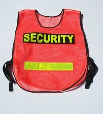 High visibility luminous nylon security vest, for security guards, crowd control