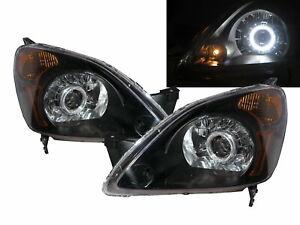 CR-V CRV RD4-RD7 MK2 02-04 Guide LED Angel-Eye Headlight Black V3 for HONDA RHD