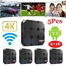 5Pcs A95X R2 Android 7.1 TV Box 2G 16G S905W 4K HD Wifi H.265 Media Player S2Z9H